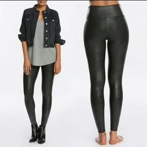 SPANX Slimming Faux Leather Leggings